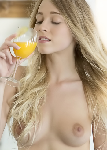 Have a late cocktail, she gets naked while she drinks