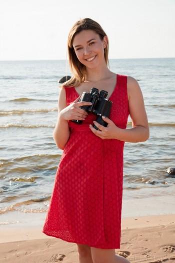 Beach Redhead nude